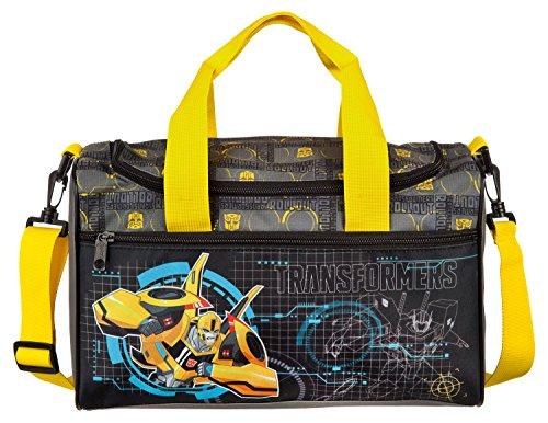 Scooli TFUV7252 - Sporttasche mit Hauptfach und Vortasche, Transformers mit Bumblebee und Optimus Prime Motiv, ca. 35 x 16 x 24 cm