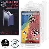 VCOMP Lot 2 Films Vitre Verre Trempé de Protection d'écran pour Motorola Moto G2 II...