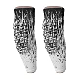 B-Driven Sports - Arm Compesssion Sleeves - Great for Golfers Elbow Pain, Swelling, Tendonitis, & Ideal for Workouts, Cross Fit Training. - Med White Streaks