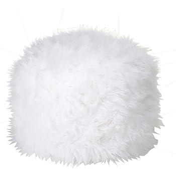 home decor fuzzy ottoman pouf white