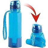 Semptec Urban Survival Technology Silikonflasche: Faltbare Silikon-Trinkflasche, 650 ml, lebensmittelecht, BPA-frei (Flexible Trinkflasche)