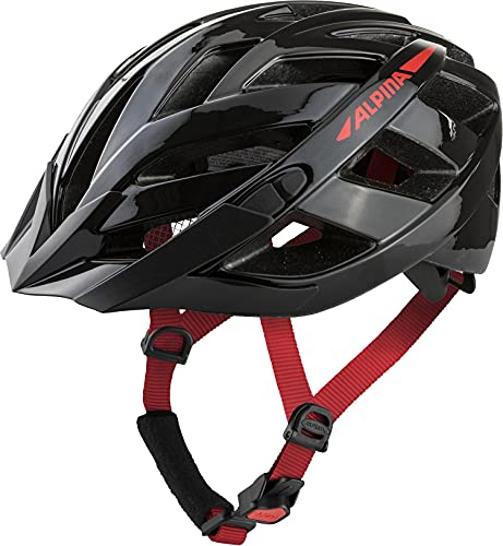 ALPINA Unisex - Erwachsene, PANOMA 2.0 Fahrradhelm, black-red gloss, 56-59 cm