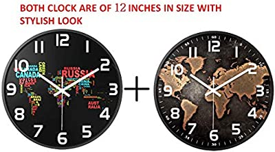 Accents & Decor Combo Pack of 2 Round Wall Clock 14 inch Wall Clock for Home/Living Room/Office/Bedroom/Living Room Fancy Pack of 2-14 Inch