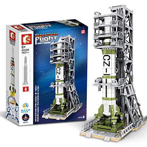 Technic Space Rocket con Conjunto de Edificios de Lanzador, Conjunto de construcción de Modelos de Cohete de aviación, Bloques de 1600 Piezas compatibles con Lego
