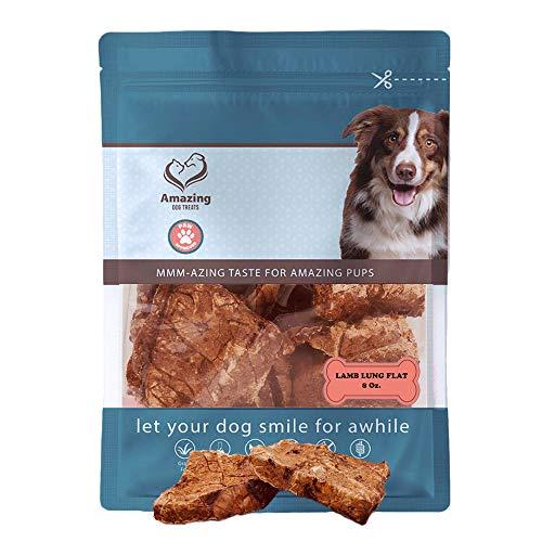Lamb Lung Squares - Premium Dog Treats - All Natural - Excellent Reward Treat for Training (8oz)