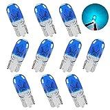 Teguangmei 10 X T10 W5W Bombilla Xenón Halógena de Azul 194 168 501 Iluminación Interior de Cuña Lámpara de Matrícula DRL Luz Antiniebla Bombilla de Freno DC 12V 5W