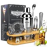 19 Pieces Bartender Kit, PECHAM Stainless Steel Cocktail Shaker Set...