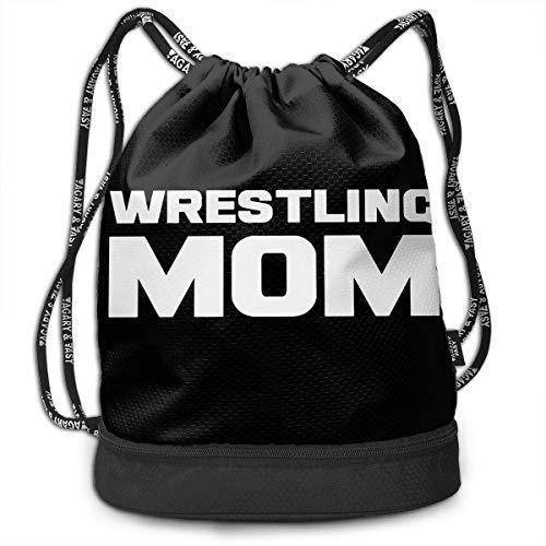 Rucksäcke,Sporttaschen,Turnbeutel,Daypacks, Wrestling Mom Bundle Backpack Funny Gym Bag