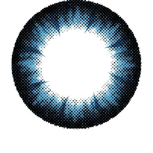 Matlens - Pro Trend Farbige Kontaktlinsen mit Stärke blau blue Big eyes Apollo NPX-A04 2 Linsen 1 Kontaktlinsenbehälter 1 Pflegemittel 50ml