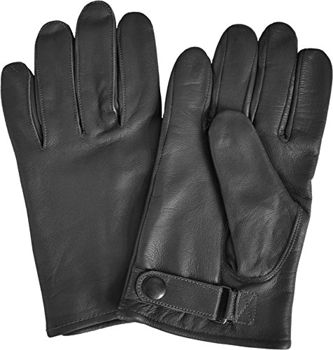 normani Bundeswehr Herren Lederhandschuhe, gefüttert Farbe Schwarz Größe XL