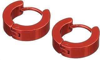 Stainless Steel 14mm Minimalist Small Hoop Earrings Huggie Earrings for Women Men Valentine's Day Jewelry 2 Pairs/lot