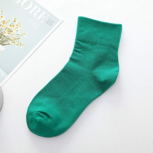FANG Classic ademende katoenen sokken, voor dames en heren, effen kleur, comfortabele sokken (6 paar), ademende anti-zweet sokken