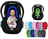 Sweet Baby ** SOFTY MINKY ** Reductor para silla de bebé Maxi Cosi/Römer etc. / Protector de cuerpo para coche (0-6 meses) (Negro)