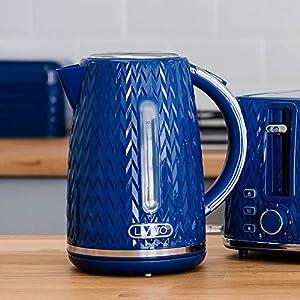 Livivo Taurus Kettle 1.7L - Navy Blue