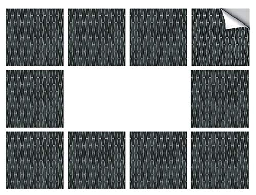 DMFSHI Pegatinas de Baldosa, 10 PCS de Papel Tapiz de Mosaico, Pegatinas Impermeables y Duraderas para Azulejos de Pared para Baño de Cocina, Azulejos de Pared Irregulares(15 * 15 cm)