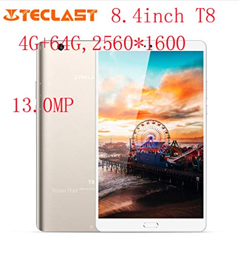 Teclast Master T8 8.4 Pulgadas Tablet PC Android 7.0 MTK8176 Hexa Core 1.7GHz 4GB RAM 64GB ROM Huella Digital Dual WiFi 13.0MP Juego PC