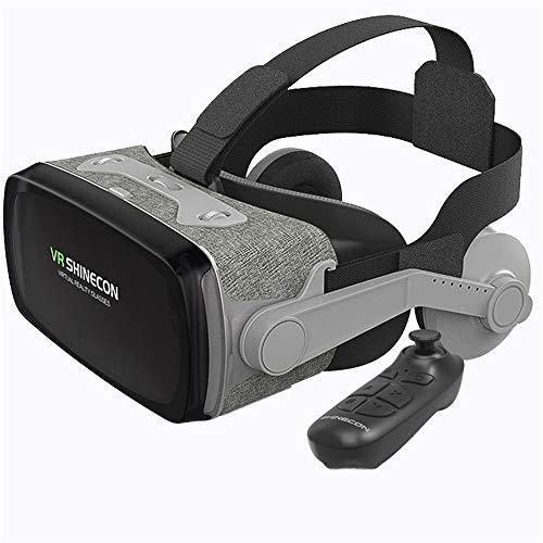 Auriculares VR, Auriculares de Realidad Virtual, Gafas VR, Gafas VR: para Videojuegos de películas VR 3D, Compatible para iPh 7/7 + / 6s / 6 + / 6/5, Samsung, Huawei, Google,B