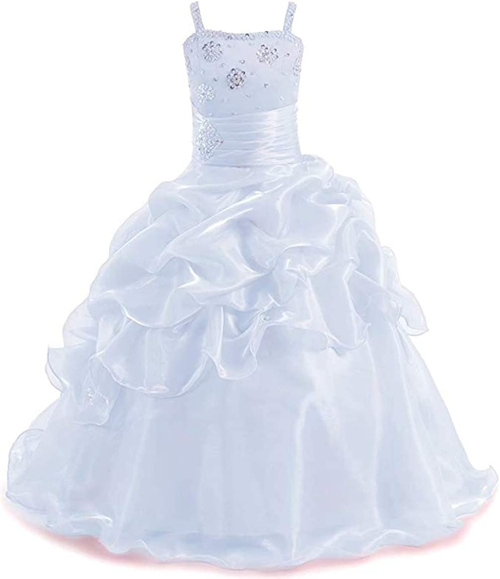 Huifany Low price Girl's 2 Straps Super beauty product restock quality top Ball Flower Dress Gril Pageant Flo