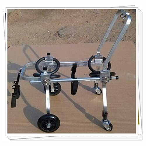 Silla de ruedas para perros ajustable Perro silla de ruedas for mascotas Vespa tetrapléjico Asistida Extremidad anterior del vehículo averiado 4 ruedas silla de ruedas for discapacitados en rehabilita