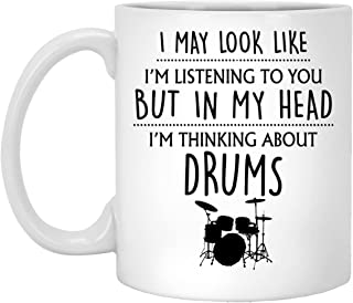 Drums Gift, Drums Mug, Funny Drums Gifts For Him, Men, Friend, Drummer Gifts, Gift For Drums Lover, Playing My Drums Coffe...