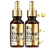 (2 Pack) Hemp Oil (40,000MG) | Pain, Stress & Anxiety Relief | 100% Pure & Natural Drops, Made in USA | with Essential Oils, Omega 3,6 & 9