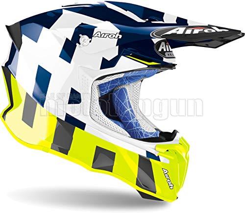 MOTOTOPGUN AIROH TW2F35 Casco Moto Cross Azul Brillante Twist 2.0 Frame Talla S