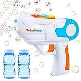 Seifenblasenpistole,Bubble Maschine Pistole,Seifenblasenmaschine für Kinder,Automatische Bubble Machine Spielzeug,Bubble Machine Set,Bubble Maker Spiele,LED Seifenblasen Pistole,Outdoor Bubble Toys