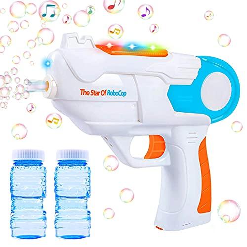 TaiMeiMao Máquina de Burbujas,Niños Maquina Pompas Jabon,Portátil Máquina de Burbujas,Maquina Pompas Jabon con solución de jabón,Soplador de Pompas Jabon,Juguetes Burbujas para Niños (A)