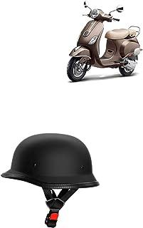 Adroitz Matte Finish Black Helmet for TVS Scooty Pep+