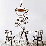 Pretty Coffee Wall Art Decal Stickers Pvc Material decoración de la cocina vinilo decorativo pegatinas café 58x107cm