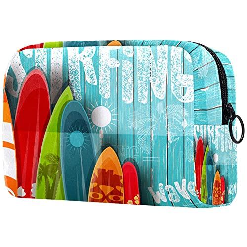Bolsa De Maquillaje Tabla De Surf De Surf Neceser De Cosméticos Y Organizador De Baño Neceser De Viaje Bolsa De Lavar para Hombre Y Mujer 18.5x7.5x13cm