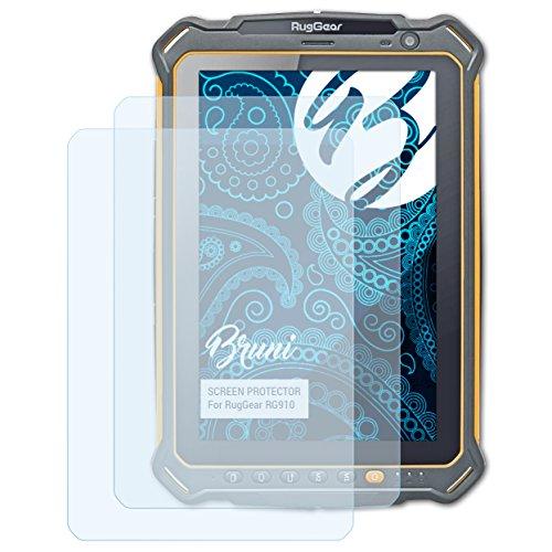 Bruni Schutzfolie kompatibel mit RugGear RG910 Folie, glasklare Bildschirmschutzfolie (2X)