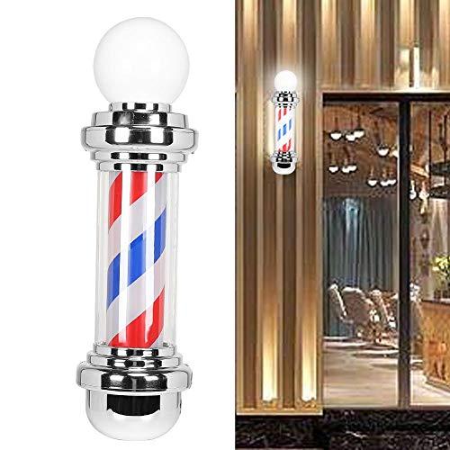 Nannday Barber Pole LED, 26,7 Pulgadas, Resistente al Agua, Barra de barbería, Barra giratoria e iluminada, luz Brillante para salón de Cabello, Tiras LED de Ahorro de energía