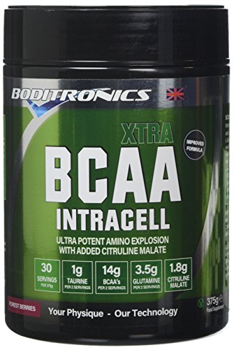 Boditronics BCAA Intracell XTRA 375g Forest Berries Intra Workout and BCAA Powder