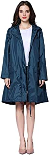 IMSHI Women Raincoat with Hooded Waterproof Rain Jacket for Ladies Lightweight Breathable Windproof Outdoor Rainwear Travel Windbreaker Raincoat Poncho with Zipper,Portable Carrying Bag