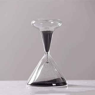 73JohnPol Hourglass Hand-Blown Timer Clock Magnetic Glass Sandglass Ampulheta Crafts Sand Clock Hourglass Timer,White