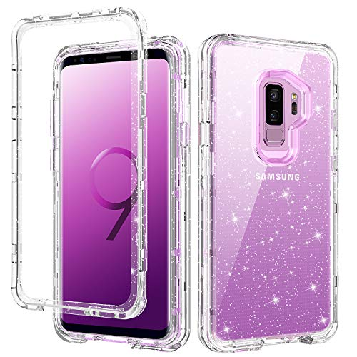 GUAGUA Coque pour Samsung Galaxy S9 Plus Transparente Paillettes ...