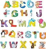 INDIGOS UG - Holzbuchstabe - N - für Kinder und Babys - Motiv Tiere für das Kinderzimmer, Schule, Kindergarten, zum Spielen, Basteln und Sammeln