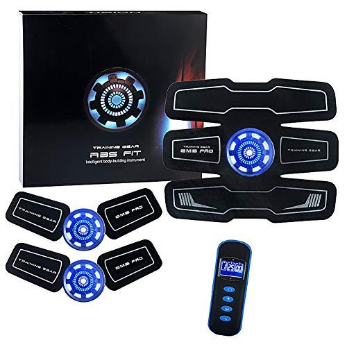 ECO-SEDA Muskulös Elektrostimulator, EMS Fitness Instrument Smart Blu-Ray, Elektrische Stimulation Bauchmassage Abdomen/Arm/Bein - 8 Modi Und 10 Stufen