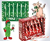 Pickle & Bacon Flavored Candy Cane Gift Set 2pk (BrightandBold)
