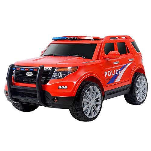 Uenjoy 12V Kids Police Ride on...