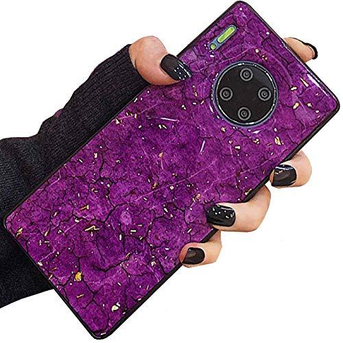 DANGE - Carcasa para Samsung Galaxy J510 (2016 J5, interior de piedra, mármol, cristal de piedra, carcasa fina, antiarañazos, luz artificial, color morado