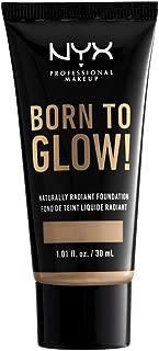 NYX Born To Glow! Naturally Radiant Foundation, Medium Olive, 1.01 Fl Ounce