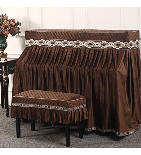 YUDEYU Europäischer Stil Staubschutzhaube Klavier Schemel Volles Gesicht In Der Mitte Geteilt, Unterstützung for Die Anpassung (Color : C1, Size : 153x34x120cm+78x37cm)