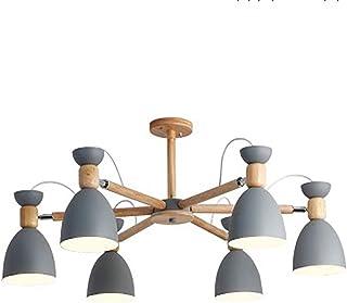 Contemporain Sputnik Lustre E27 Led Classique Bois Suspension Luminaire Industrielle Réglable Plafonnier Appareil Éclairag...