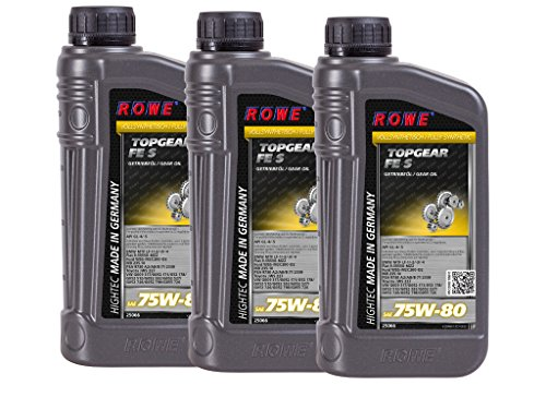 3 (3x1) Liter ROWE HIGHTEC TOPGEAR FE SAE 75W-80 S