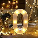 LED Números Decoración Lámparas,Bainuojia Number Decoradas LED Luces Luz de Decoración Diseño de Digital 0-9(0)