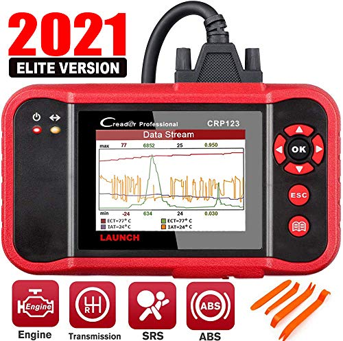 LAUNCH OBD2 Scanner CRP123 - 2021 Model Engine/ABS/SRS/Transmission Diagnostic Scan Tool SRS Code Reader,Free Update