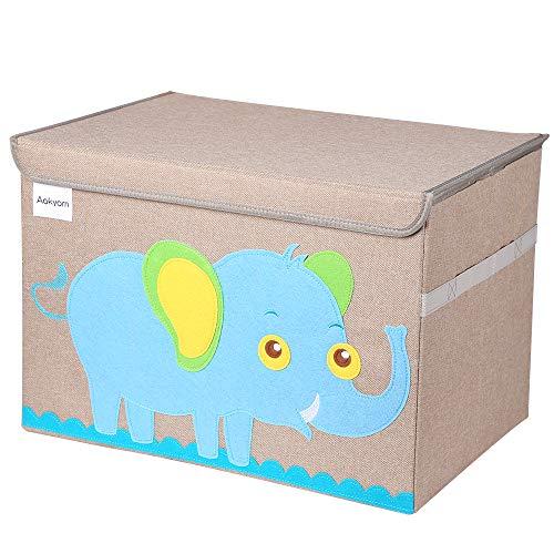 Caja de almacenaje Caja de almacenamiento de juguetes Contenedor de canasta grande para juguetes Caja de Juguetes y Almacenamiento con tapa, tamaño grande para guardar juguetes,libros,ropa de cama
