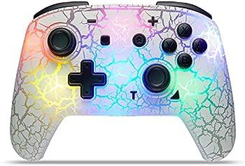 Binbok 8 Colors Adjustable LED Wireless Remote Gamepad
